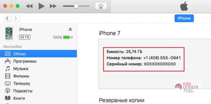Данные с iTunes
