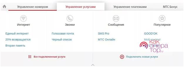 Управление услугой «Запрет контента» от МТС