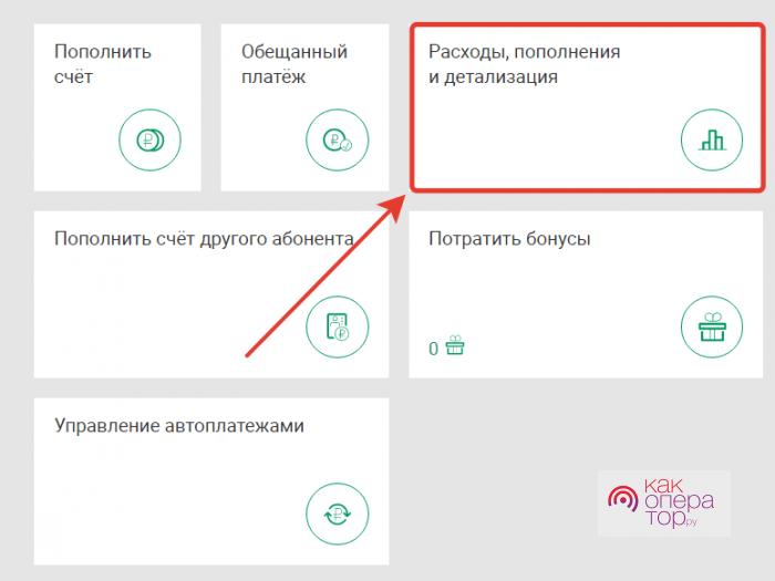 Как сделать детализацию на Мегафоне за месяц
