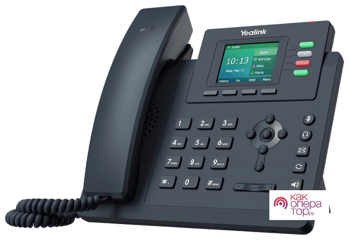 Купить VoIP-телефон Yealink SIP-T33P, 4 линии, 4 SIP-аккаунта, цветной дисплей, PoE, черный в . Цены от интернет-магазина e2e4