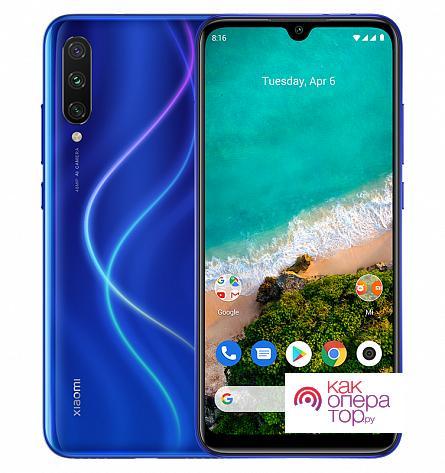 Купить Xiaomi Mi A3 4/128GB (синий) в Москве: цена смартфона Сяоми Ми А3 128GB синий в официальном магазине телефонов Xiaomi!