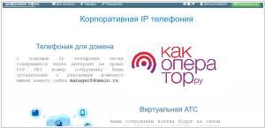 Рейтинг сервисов IP-телефонии (VoIP)