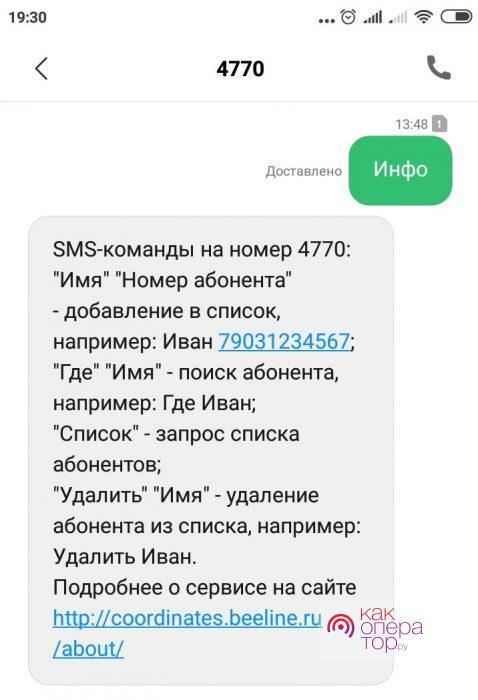 Управление с помощью СМС-запросов